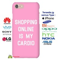 SHOPPING ONLINE IS MY CARDIO iPhone Case & All Case HP