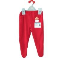 Baju Bayi Katun 100% ORI MIYO Red Celana Panjang Tutup Kaki 3-6m