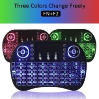 Mini Keyboard Wireless i8 Backlit lampu 2.4G For PC Android TV Box