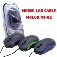 Harga mouse laptop komputer pc kabel optic mtech 02 m tech mt | antitipu.com