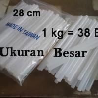 Jual x 38 pcs Glue stick BESAR , isi Lem Tembak 1cm x 28cm   Murah