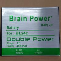 Batre / Batrai / Battery / Baterai Brain Power Lenovo A6000 / BL-242