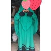 Gamis anak syar'i wolfis/baju muslim anak jumbo size 12