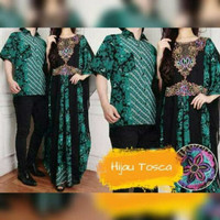 Baju pesta pasangan kaftan batik maxi dress baju couple lebaran