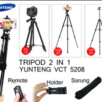 Tripod Yunteng Bluetooth VCT 5208 Standing Hp dan Camera