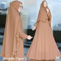 Gamis / Baju / Setelan Wanita Muslim Juanita Syari + Jilbab