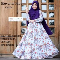 Baju Muslim Anak Perempuan Gamis Elevania Ori Naura Terbaru