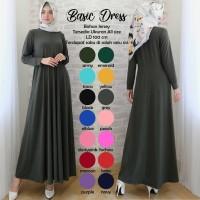 grosir gamis syari modern terbaru / Dress maxy muslim simple kekinian
