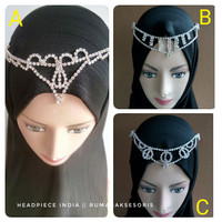 Headpiece india/headpiece hijab/hiasan kepala