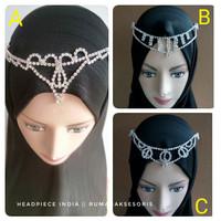 Headpiece india/headpiece hijab/hiasan kepala