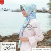 Kerudung Instan Hijab Jilbab Segitiga Keina Motif Terbaru Warna Blue