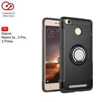 Calandiva Ring Carbon Case Xiaomi Redmi 3 Pro , Prime , 3s - Black