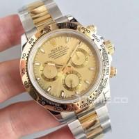 Jam Tangan Rolex Daytona Cosmograph Swiss Clone 1:1 Gold Dial