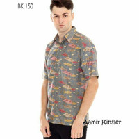 Batik Cowok Baju Batik Laki Kemeja Batik Hem Batik Solo Mewah BK 150
