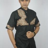 Baju Koko Dewasa Warna Hitam Aplikasi Bordir/ Nyaman Dipakai/ Branded