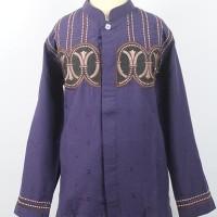 Jual Baju Koko Anak Warna Ungu Bordir/ Fashionable/ Bagus