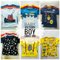 Kaos Baby Victory Boy Size 3T Label SNI Atasan Baju Anak Laki Murah
