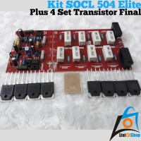 Paket Kit SOCL 504 RX-007 Elite Plus 4 set Transistor Final NJW