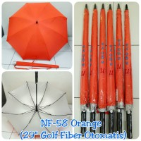 Payung Golf Fiber Otomatis Orange