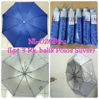 Payung Lipat 3 Biru dalam Silver