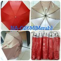 Payung Lipat 3 Merah dalam Silver