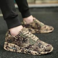 Sepatu Sneakers Casual army camouflage pria wanita