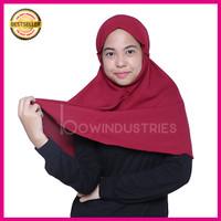 Jual Kerudung Hijab Jilbab Instan Simple Syari Khimar Wolfis Wolvis Size M Murah