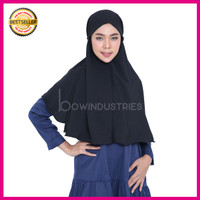 Jual Kerudung Hijab Jilbab Instan Simple Syari Khimar Wolfis Wolvis Size L Murah