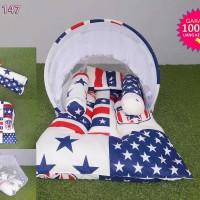 Kasur Lipat Baby Kelambu Motif Standard American/Honi/Number/Aliya