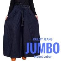 celana jeans murah Celana Panjang Kulot Wanita Muslimah JUMBO Bahan
