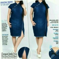 DRESS WANITA MURAH BAJU dress midi jeans cheongsam cunli jumbo