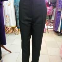 CELANA PANJANG wanita celana bahan hitam bahan stretch impor