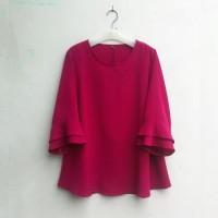 BAJU WANITA [NEW] Blouse Wanita Big Size 2L, 3L, 4L & 5L Warna Pink