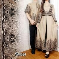 BAJU MUSLIM MURAH Couple (Fit XL) ANINE Baju Koko + Gamis Maxi