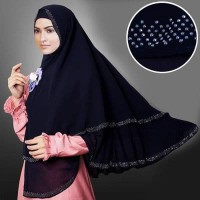 Almeira Bergo Syari Gray Stone Black / Jilbab Besar Fashion Muslimah