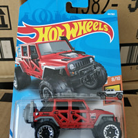 S0011-HOT WHEELS / HOTWHEELS-'17 JEEP WRANGLER-MERAH