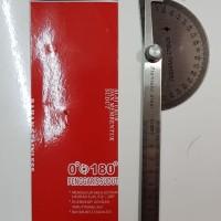 THUNDER Penggaris Protractor Stainless Busur Derajat 10 cm half Round