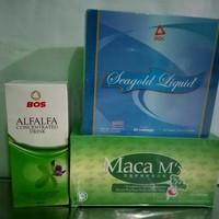 OBAT HERBAL PENYUBUR(PROMIL BUNDA)PAKET3 ALFALFA +MACA MX +SEAGOLD