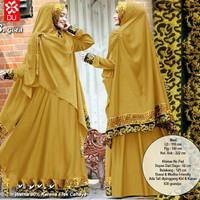 Set gamis syari busana muslim maxi dress abaya jubah arab umroh haji