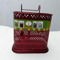 Tempat Sendok Garpu/Cutlery Organizer Segi Merah