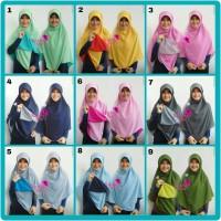 Jilbab Segi Empat Bolbal  Segi Empat Bolak Bali  Segi 4 Double Hycon