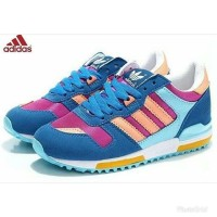 PROMO SEPATU ADIDAS ZX 700 BLUE PEACH Import made in vietnam real pict
