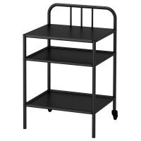 Ikea FYRESDAL Meja samping tempat tidur, hitam, uk 45x38 cm