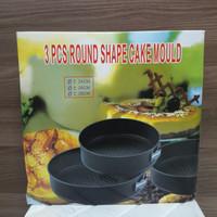 Cetakan Kue Bulat Tong Da Round Cake Mould Set of 3 Pcs (BM)