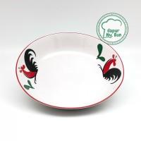 Piring Salad / Ayam Jago Seri 2/ Ukuran 18,5cm / Mangkuk Salad