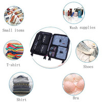 7 pcs 1 Set Storage Bag Packing Cube Travel Bag Organizer Tas Koper