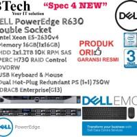 """DELL Server R630 1U """"Spec4 NEW"""" E5-2630v4/16GB/2x1.2TB/SAS/3YR"""