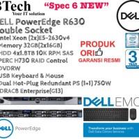 """DELL Server R630 1U """"Spec6 NEW"""" (2x)E5-2630v4/32GB/4x1.8TBSAS/3YR"""