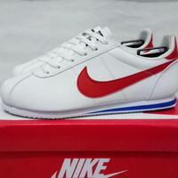 sepatu sneakers casual nike cortez putih merah cewek women wanita