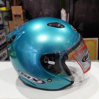 Helm GIX biru muda glowsy